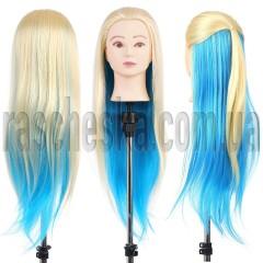 Манекен головы для причесок с волосами Голубушка