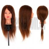 Учебный манекен для парикмахера Sibel с натуральным волосом