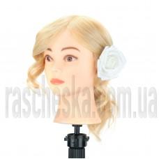 Болванка с натуральными волосами для стрижки и причесок