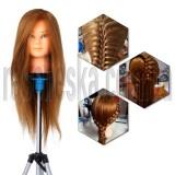 Голова манекен с натуральными волосами для обучения