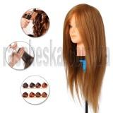 Манекен головы с натуральными волосами и напольным штативом