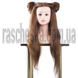 """Голова манекен для причесок с плечами и натуральным волосом 80 см """"Бюст №3"""""""