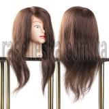 Голова манекен для парикмахера с натуральным волосом 65 см