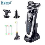 Электробритва триммер и зубная щетка Kemei 3 в 1 KM-5181