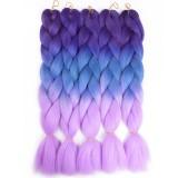 Канекалон для волос №1 омбре трехцветное