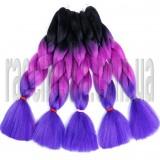 Канекалон для волос №7 омбре трехцветное