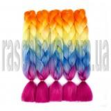 Канекалон для волос №2 четырехцветное омбре