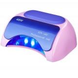 Профессиональная лампа LED + CCFL для сушки гель-лаков и геля 48W Pink