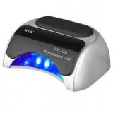 Профессиональная лампа LED + CCFL для сушки гель-лаков и геля 48W Silver