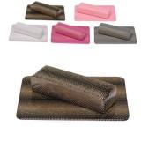 Подлокотник с ковриком для наращивания ногтей Питон Черный