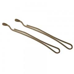 Невидимки TICO Professional обрезанные 300625 коричневые - длина 70 мм, вес 200 гр